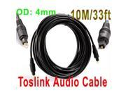 33FT(10M) Digital Optical Optic Fiber Toslink Audio Cable OD 4mm AV Cable