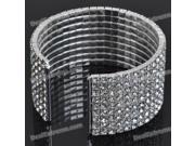 Elegant Shining Crystal Alloy Opening Bracelet