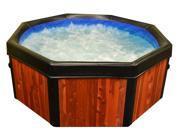 Real Wood 6' Spa-N-A-Box Portable Hot Tub Spa with Florida Cypress Panels