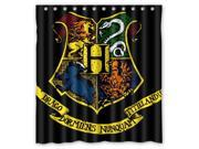 Custom Harry Potter Hogwarts Badge Waterproof Shower Curtain High Quality Bathroom Curtain With Hooks 66