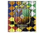 Waterproof Shower Curtain Harry Potter Hogwarts Badge High Quality Bathroom Curtain With Hooks 66