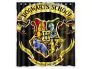 Fashion Design Harry Potter Hogwarts Badge Bathroom Waterproof Polyester Fabric Shower Curtain With Hooks 66