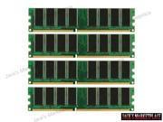 NEW! 4GB 4X 1GB DDR PC3200 4 GB PC 3200 LOW DENSITY 184-pin DIMM DESKTOP MEMORY RAM DUAL KIT (Ship from US)