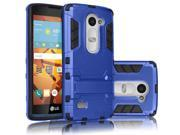 Hybrid Rubber Hard Slim Case Cover with Kick-Stand for LG C40 [Blue]