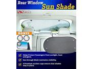 X-Shade Back Window Car Sun Shade Mesh Screen 39.4x20 Inches with Blind Spot Mirror and Suction Cups 9SIA71P3N86784