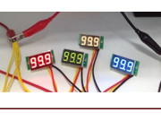 """0-30V Three-wire 0.36"""""""" DC LED Digital Panel Car Meter Volt Voltage Voltmeter"""" 9SIA7252KH2111"""