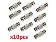 10 Pack Lot - BNC CCTV Coax Coaxial Cable Coupler Adapter Connector Female RG59