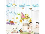 Children's cartoon wall decorative stickers Squarepants wall stickers wall stickers PVC DLX132