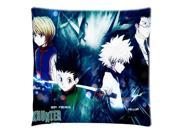 Home Deco Good Quality Hunter×Hunter Cushion Cover Pillow Case 18X18 inch 2 Sides Printed (50% cotton, 50% polyester)
