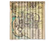 Fashion Design Harry Potter The Marauder''s Map Bathroom Waterproof Polyester Fabric Shower Curtain With Hooks 66