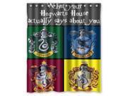 Hot Sale Custom Harry Potter Hogwarts Badge Waterproof Fabric Bathroom Shower Curtain 60