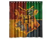 Unique Harry Potter Hogwarts Badge Bathroom Waterproof Polyester Fabric Shower Curtain 66