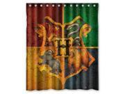 Unique Harry Potter Hogwarts Badge Bathroom Waterproof Polyester Fabric Shower Curtain 60