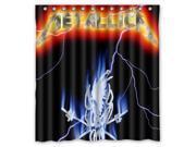 Fashion Design Metallica Bathroom Waterproof Polyester Fabric Shower Curtain With Hooks 60 W *72 H