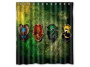 2016 Waterproof Bath Curtain Harry Potter Hogwarts Badge Home decor Bathroom Shower Curtain PEVA Fabric Shower Curtain 66