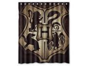 Bathroom Products Polyester Fabric Harry Potter Hogwarts Badge Waterproof Shower Curtain 60 W *72 H