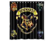Custom Harry Potter Hogwarts Badge Waterproof Shower Curtain High Quality Bathroom Curtain With Hooks 60