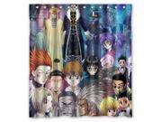 Personalized High Quality HunterxHunter Waterproof Shower Curtain Bathroom Curtain With Hooks 66 W *72 H