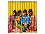 Custom The Beatles Waterproof Shower Curtain High Quality Bathroom Curtain With Hooks 66 W *72 H