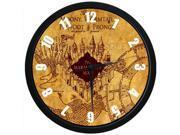 Harry Potter The Marauder''s Map - 12 Inch Wall Clock Indoor/Outdoor Decorative Silent Quartz Wall Clock
