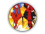 """10"""""""" Silent Quartz Decorative Wall Clock - Spiderman"""" 9SIA72M5CV8639"""