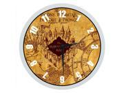 10 inch Elegant Decorative Arabic Numbers Round Silent Quartz Harry Potter The Marauder''s Map Wall clock
