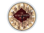 Harry Potter The Marauder''s Map Wall Clock - Indoor/Outdoor - Modern Quartz Design - Decorative 12 Inch