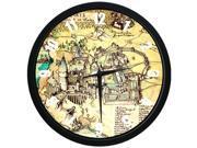 12 inch Elegant Decorative Arabic Numbers Round Silent Quartz Harry Potter The Marauder''s Map Wall clock