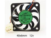 40mm 6mm Case Fan 12V DC 5CFM 3 Pin Fluid Brg PC CPU Computer Cooling 057A*