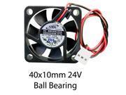 40mm 10mm Case Fan 24V 6CFM Waterproof to IP55 2 pin 382a*