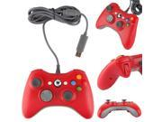 Red Wired Gamepad Controller + USB Breakaway Cable Cord for Xbox 360 Xbox360 PC