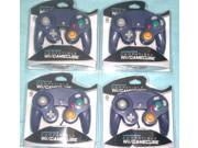 Lot of 4 Controllers for Nintendo GameCube or Wii -- INDIGO (Purple)