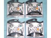 Lot of 4   Controllers for Nintendo GameCube or Wii -- PLATINUM SILVER