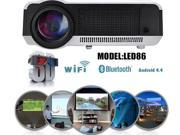 5000lumen Android 4.4 LED Projector 3D Bluetooth Full HD 1080P Lamp HDMI Video 8 9SIA73M4YZ0140