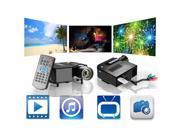 HD 1080P LED Multimedia Mini Projector Home Theater Cinema AV TV VGA HDMI USB OY