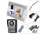 Video Door Bell 7 Inch Intercom Kit - One Camera & One Monitor - Night Vision