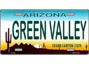 AZ Arizona Green Valley State Background Aluminum License Plate - SB-LP1056