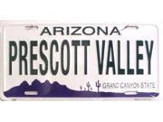 AZ Arizona Prescott Valley State Background Aluminum License Plate - SB-LP1076