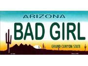 AZ Arizona Bad Girl State Background Aluminum License Plate - SB-LP1090