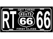 Get There 1st Class ROUTE 66 Aluminum License Plate SB LP1133