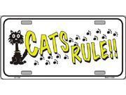 Cat's Rules Aluminum License Plate - SB-LP1199