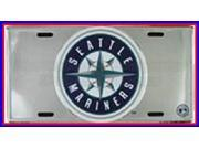 Seattle Mariners MLB Embossed Chrome Aluminum License Plate - SB-LP1274