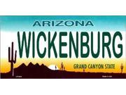 AZ Arizona Wickenburg State Background Aluminum License Plate - SB-LP1531