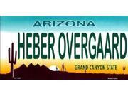 AZ Arizona HEBER OVERGAARD Aluminum License Plate - SB-LP1909