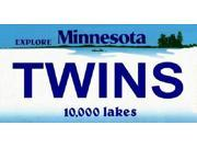 Twins Minnesota Novelty State Background Aluminum License Plate - SB-LP2081