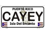 CAYEY Puerto Rico State Background Aluminum License Plate - SB-LP2827