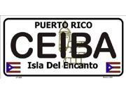 CEIBA Puerto Rico State Background Aluminum License Plate - SB-LP2828