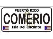 COMERIO Puerto Rico State Background Aluminum License Plate - SB-LP2832