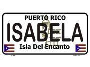 ISABELA Puerto Rico State Background Aluminum License Plate - SB-LP2846