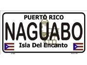 NAGUABO Puerto Rico State Background Aluminum License Plate - SB-LP2862